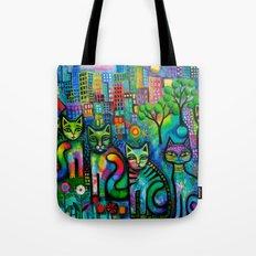 Metropolitan Cats Tote Bag