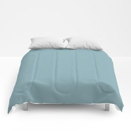 Tranquil Blue Solid Color Inspired by Behr Crashing Waves S450-4 Comforters