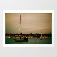 Boat at Bay Art Print
