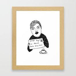 Doin' Fine Framed Art Print