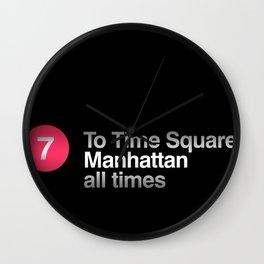 7 Subway NYC Wall Clock