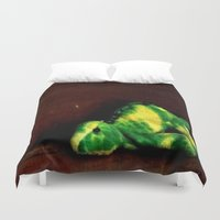 dino Duvet Covers featuring Dino by Lily Dee Designs