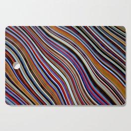 Wild Wavy Lines 10 Cutting Board