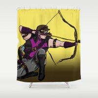 archer Shower Curtains featuring Steampunk archer by mystmoon