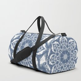 Denim and White Mandala Duffle Bag
