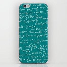 Math Equations // Teal iPhone Skin