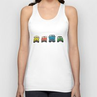 cars Tank Tops featuring Cars by Sol Fernandez