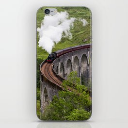 A train journey is another world. iPhone Skin