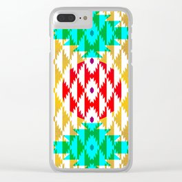 050 - traditional pattern interpretation with golden foil Clear iPhone Case