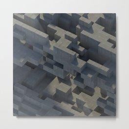 Abstract Concrete IV Metal Print