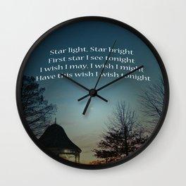 Star Light Star Bright Wall Clock