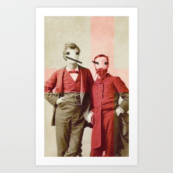 the backslash brothers Art Print