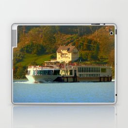 Cruise ship on the river Danube | waterscape photography Laptop & iPad Skin