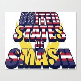 United States of Smash Canvas Print