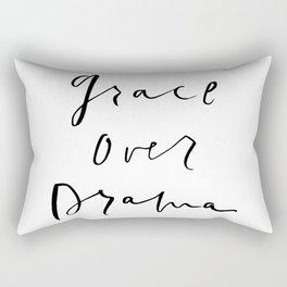 Grace Over Drama Rectangular Pillow