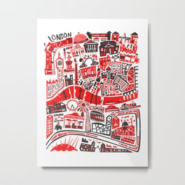London Map Metal Print
