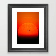 Light Chasing Framed Art Print
