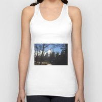 central park Tank Tops featuring Central Park by Genevieve Moye