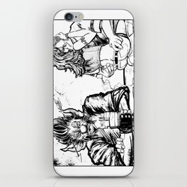 Happy VD Black and White #lovetoHate iPhone Skin