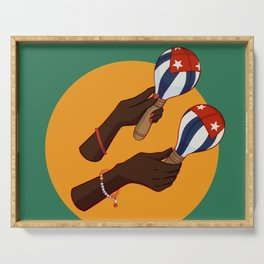 Cuban Maracas Serving Tray