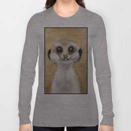 Meerkat 'Stache Long Sleeve T-shirt