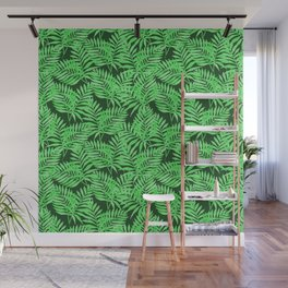 Tropical Jungle Palm Leaves Canopy Wall Mural
