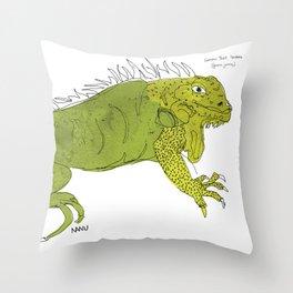 Iguana Iguana Throw Pillow