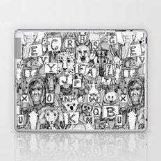 animal ABC black white Laptop & iPad Skin