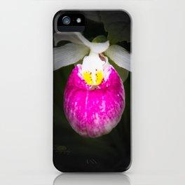 June Lady's Slipper iPhone Case