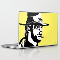 clint eastwood Laptop & iPad Skins featuring Clint by Gary Barling
