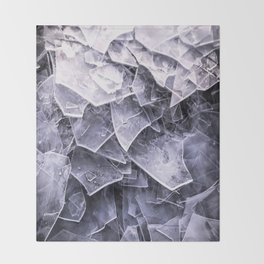 Cracked Ice Tiles In Lake Shore #decor #buyart #society6 Throw Blanket