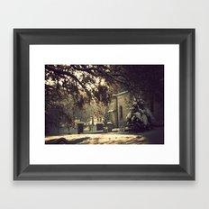 nieve en urkiola Framed Art Print