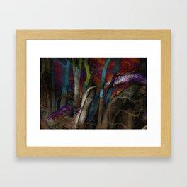 Funky Woods - JUSTART © Framed Art Print