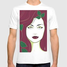 Nagel Style Poison Ivy SMALL White Mens Fitted Tee