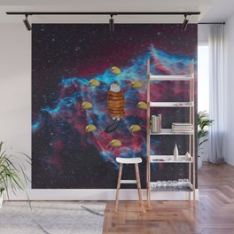 Cat Bacon and Taco Space Wall Mural