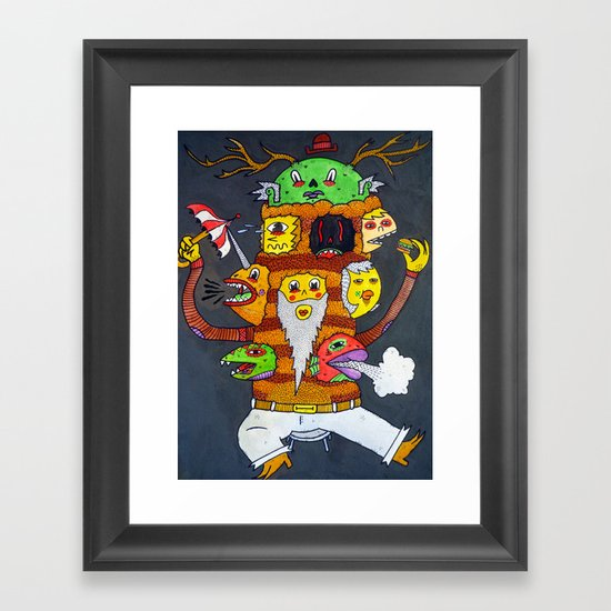 Mr. Personality Framed Art Print