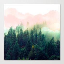Watercolor mountain landscape Canvas Print