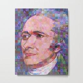 Portrait Of Alexander Hamilton Metal Print
