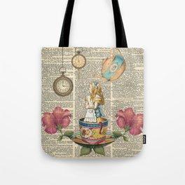 It's Always Tea Time - Alice In Wonderland Tote Bag