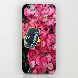 Pink Ranunculus for Sale iPhone Skin