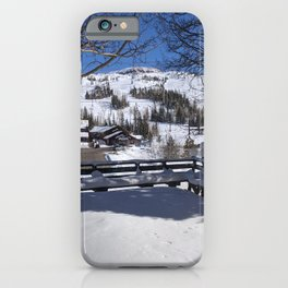 Beautiful Snow | Trees | Bright Blue Sky | Nature | Outdoors | Landscape Photography iPhone Case