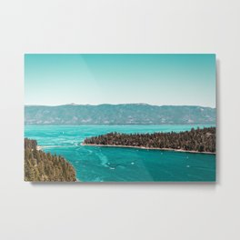 Even in the summer this lake looks like a frozen glass. Metal Print