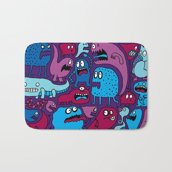 More Monsters Bath Mat