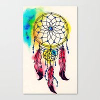 dreamcatcher Canvas Prints featuring Dreamcatcher by goyye