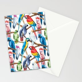 Parrot Pattern 02 Stationery Cards