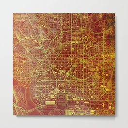 Washington 1945 Old Colorful Map  Metal Print