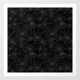 Dead of Night Cobwebs Art Print