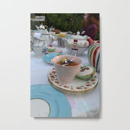 Alice - Teacup Metal Print