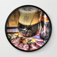 beer Wall Clocks featuring Beer by Kent Moody