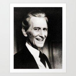 Peter Cushing, Vintage Actor Art Print
